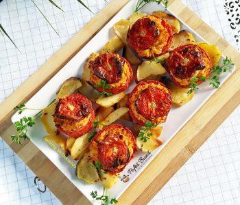 rosii umplute cu cartofi si orez la cuptor 1 350x300 - Index retete culinare (categorii)