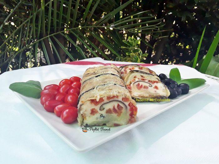 rulada cu vinete mozzarella rosii 1 700x525 - Rulada cu vinete, mozzarella si rosii